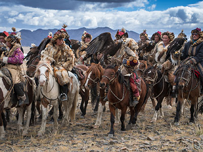 Western Mongolia, Gobi Desert, Eagle Hunting Family, Terelj National Park and 13th century complex
